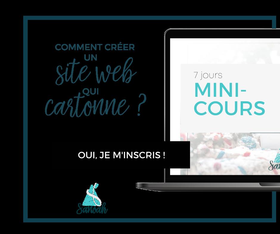 Module Mini Cours Comment créer un bon site web ?