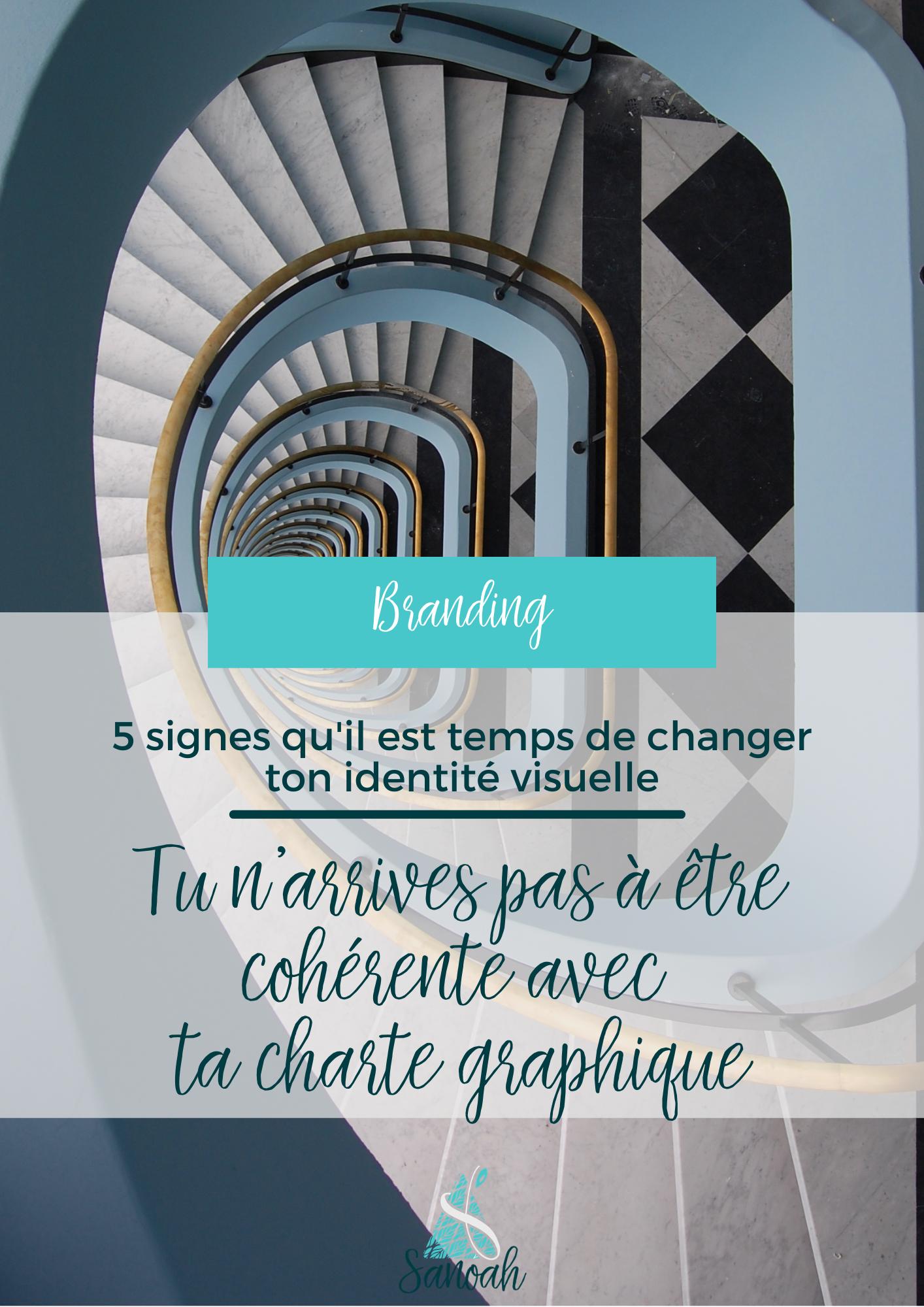 5 signes qu'il est temps de changer ton identité visuelle Tu n'arrives pas à être cohérente avec ta charte graphique