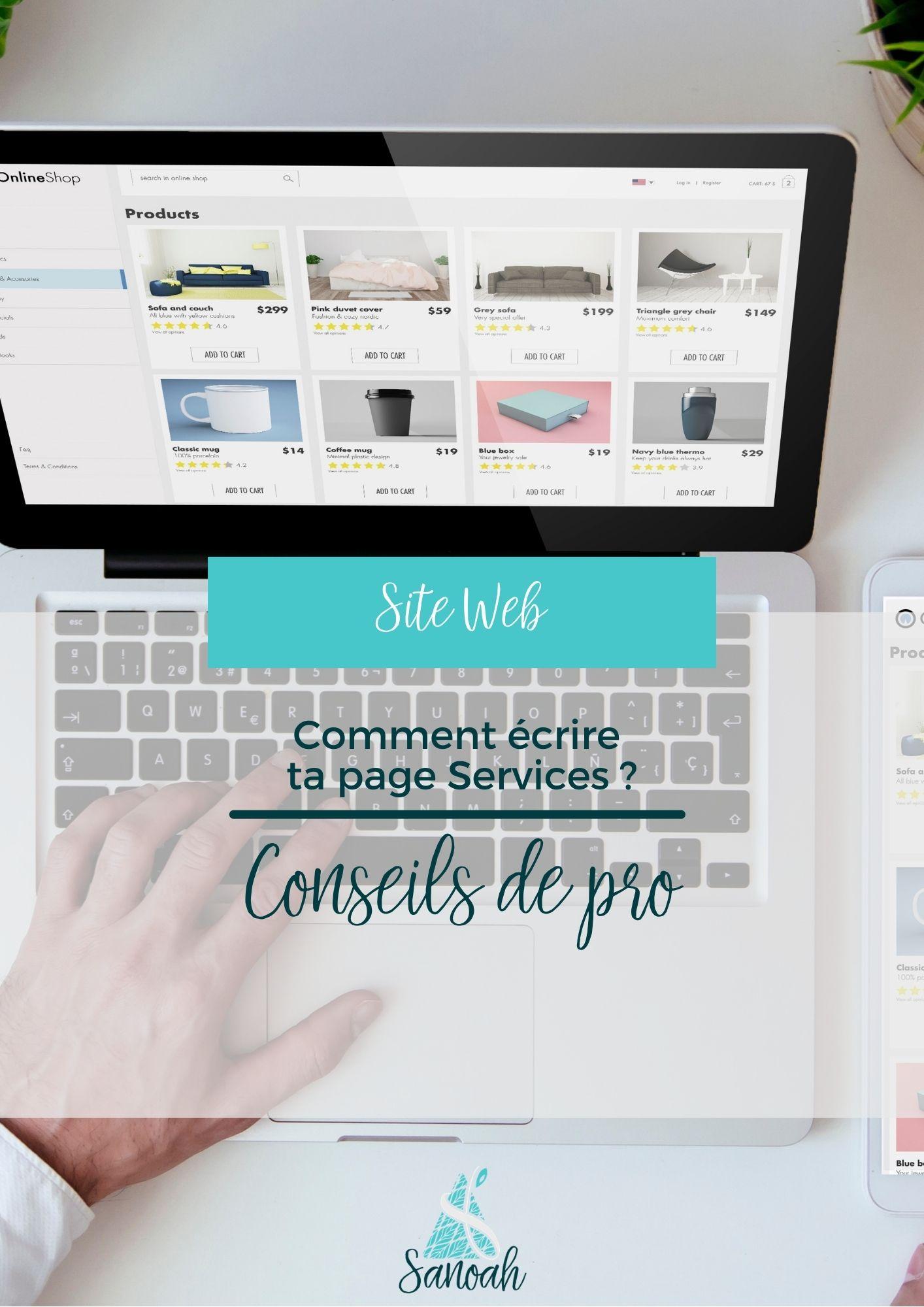 Comment écrire ta page Services_Conseils de pro
