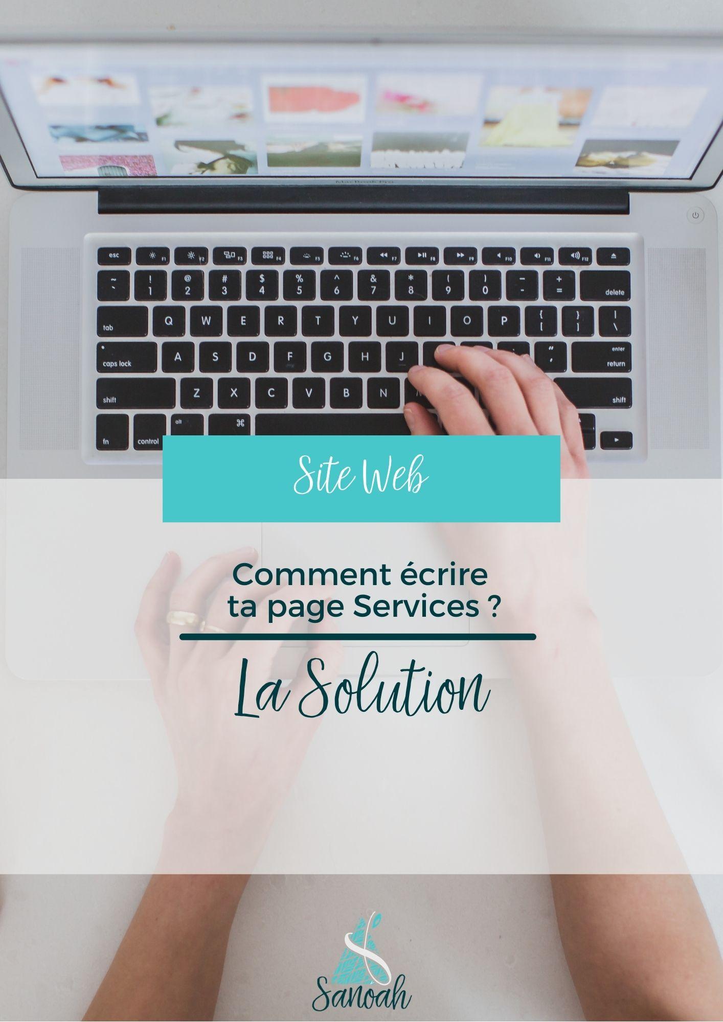 Comment écrire ta page Services_La solution