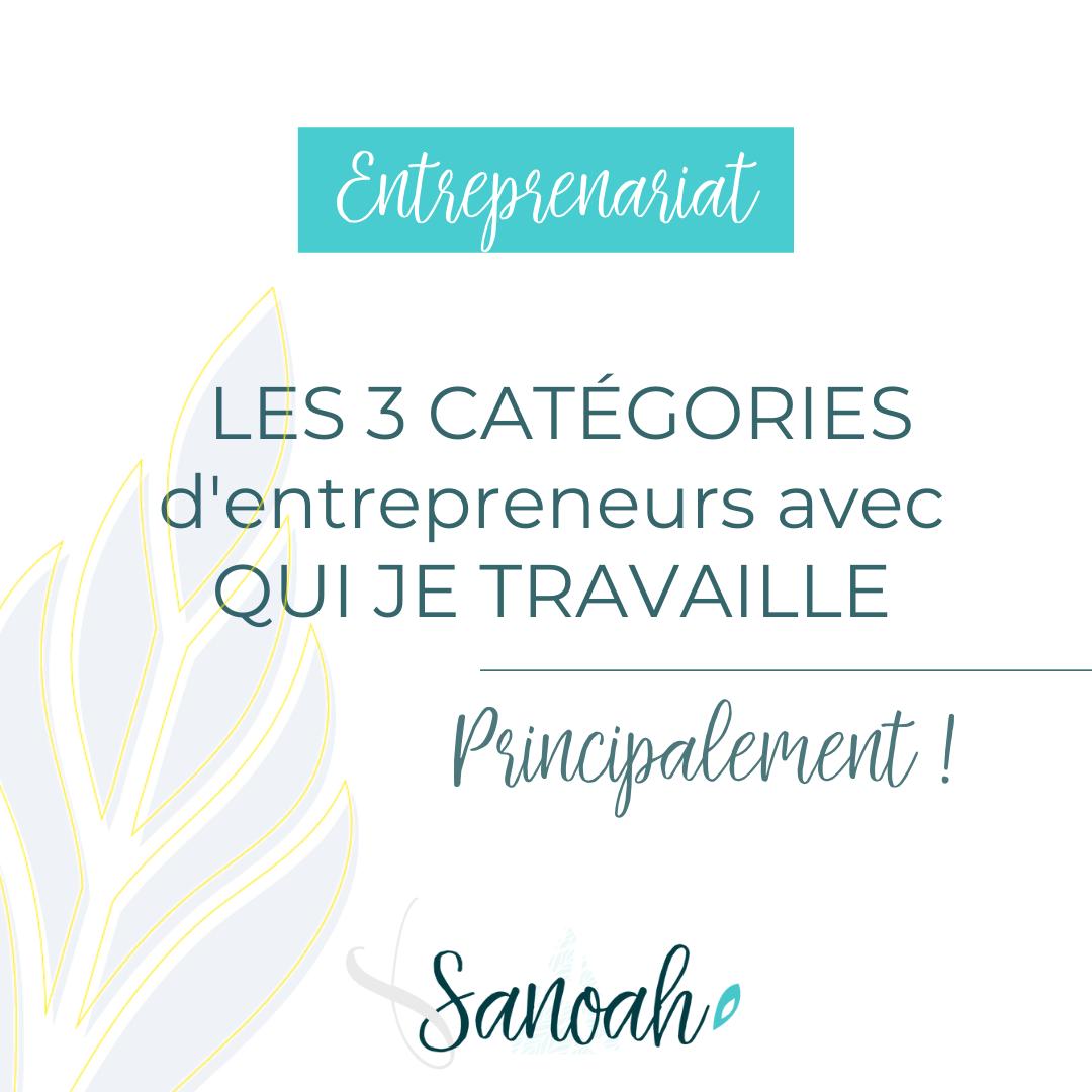 Les 3 catégories d'entrepreneurs avec qui je travaille
